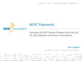 August 9, 2013 | NEPOOL markets committee