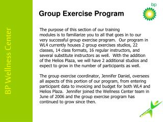 Group Exercise Program
