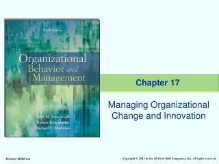 Managing Organizational Change and Innovation