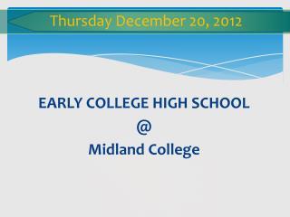 Thursday  December  20 ,  2012