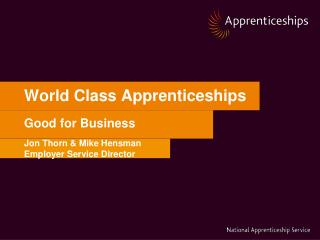 World Class Apprenticeships