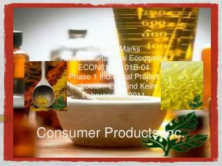 Consumer Products Inc.