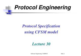 Protocol Engineering