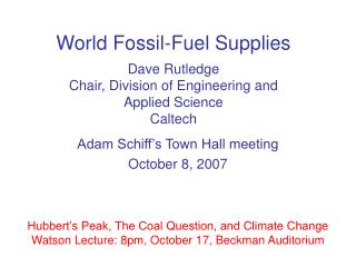 Adam Schiff's Town Hall meeting October 8, 2007