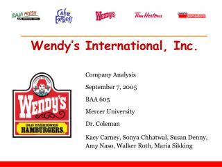 Wendy s International, Inc.