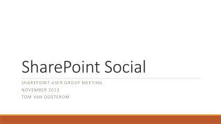 SharePoint Social