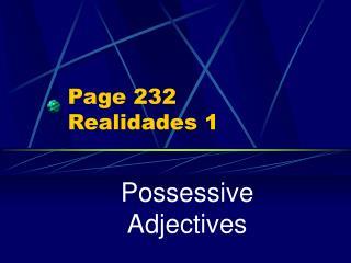 Page 232 Realidades 1