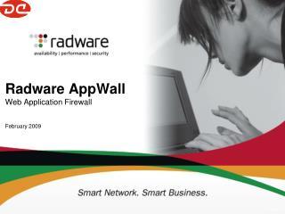 Radware AppWall  Web Application Firewall February 2009