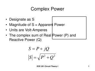 Complex Power