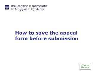 How to save the appeal form before submission
