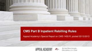 CMS Part B Inpatient  Rebilling Rules