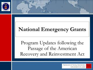 National Emergency Grants