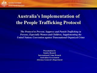 Australia's Implementation of the People Trafficking Protocol