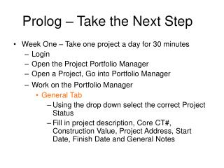 Prolog � Take the Next Step