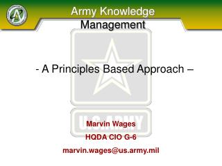 Army Knowledge Management