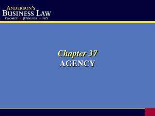 Chapter 37 AGENCY