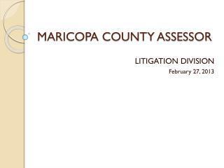 MARICOPA COUNTY ASSESSOR