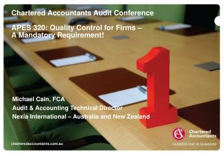 Michael Cain, FCA Audit & Accounting Technical Director