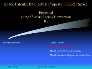 Space Patents: Intellectual Property in Outer Space