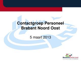 Contactgroep Personeel Brabant Noord Oost