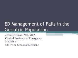 ED Management of Falls in the Geriatric Population