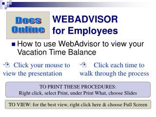 WEBADVISOR for Employees