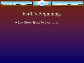 The Story from before time