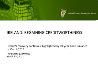Ireland: regaining creditworthiness