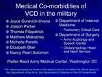 Medical Co-morbidities of  VCD in the military