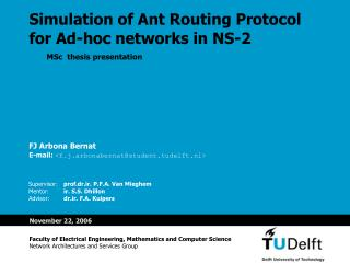 Simulation of Ant Routing Protocol for Ad-hoc networks in NS-2