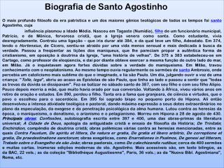 Biografia de Santo Agostinho