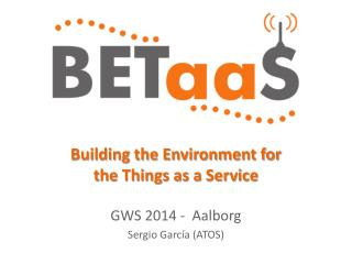 Building the Environment for the Things as a Service