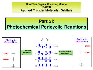 Third Year Organic Chemistry Course CHM3A2 Applied Frontier Molecular Orbitals