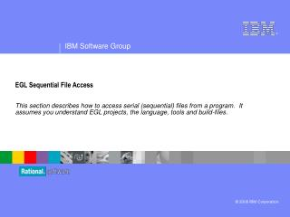 EGL Sequential File Access