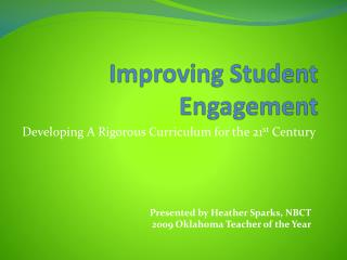 Improving Student  Engagement