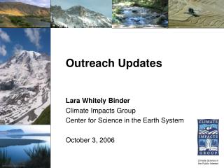 Outreach Updates