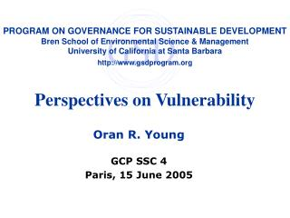 Perspectives on Vulnerability