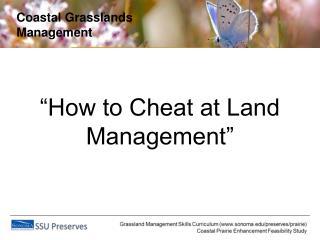 Coastal Grasslands Management