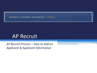 AP Recruit
