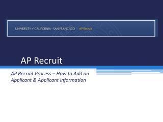 AP Recruit
