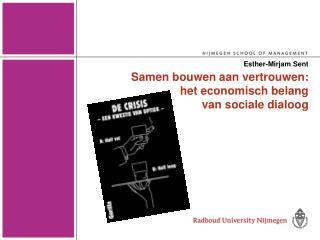Samen bouwen aan vertrouwen: het economisch belang  van sociale dialoog