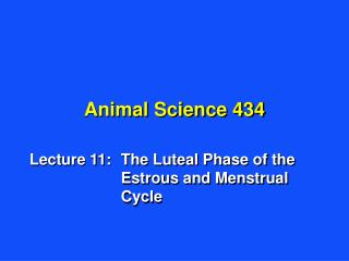 Animal Science 434