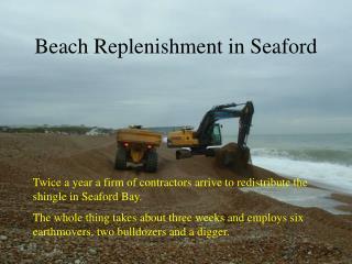 Beach Replenishment in Seaford