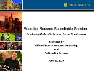 Recruiter Resume Roundtable Session