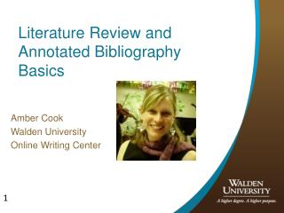 Literature Review and Annotated Bibliography  Basics
