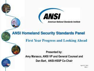 ANSI Homeland Security Standards Panel