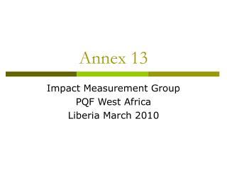 Annex 13