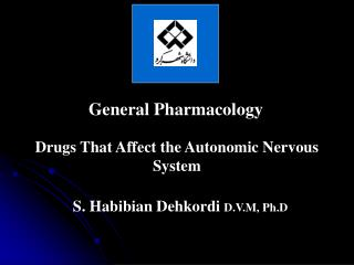 General Pharmacology