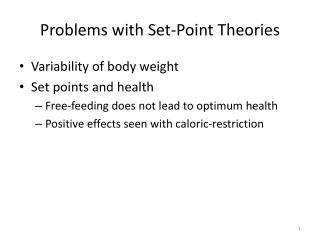 Problems with Set-Point Theories