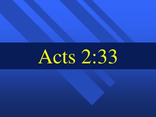 Acts 2:33